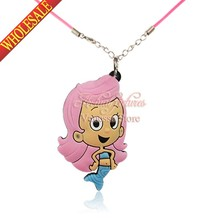 1pcs Bubble Guppies Pendant Necklaces For Kids Baby Child Jewelry Cosplay Character Christmas Gift travel accessories(China (Mainland))