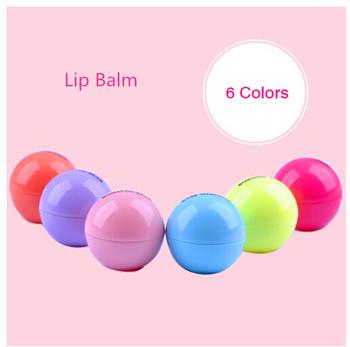 2015 новый популярные женские симпатичные круглый шар бальзам для губ для губ девушки Smacker бальзам протектор губной макияж комбинированной подарок 1 шт. бесплатная доставка LP01
