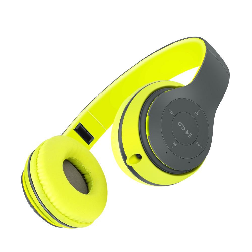 ถูก เสียงแหล่BT-P5ไร้สายบลูทูธหูฟังเสียงเบสที่หนักแน่นชุดหูฟังไมค์ด้วยการสนับสนุนบัตรTFวิทยุFMสำหรับiPhoneซัมซุง