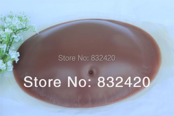 Brown color 5~6 months pregnancy realistic pregnant silicone belly tummy drop shipping - lovepretty0806 store