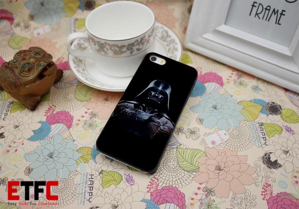 ETFC-383 Star Wars Darth Vader D Design Hard Black Skin Case Cover for iPhone 4 4s 4g 5 5s 5g