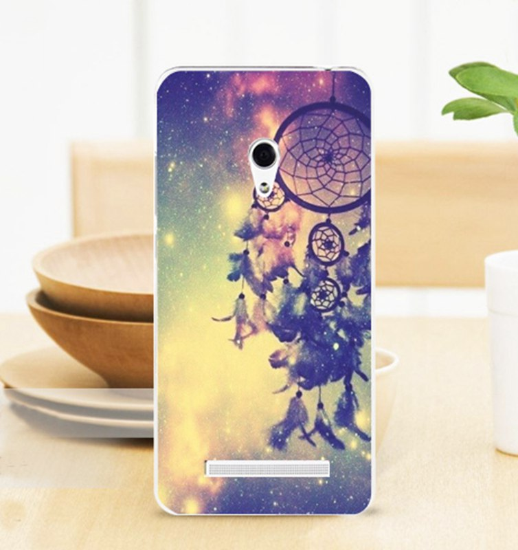2015 Fashion Side Transparent Hard Back Cover Cell Phone Skin Case for ASUS Zenfone 5 zenfone5 A501CG A500CG A500KL ASU5W393(China (Mainland))