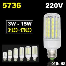 5736 Лампада СВЕТОДИОДНАЯ Лампа 220 В Кукурузы Свет Светодиодные Лампы E14 Свеча Прожектор Ампуле LED E27 Люстра Lamparas Bombillas