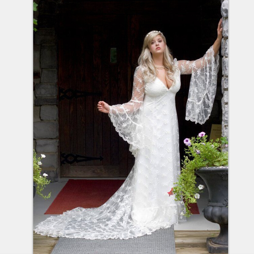 Custom made vintage victorian medieval style puffy long for Medieval style wedding dress