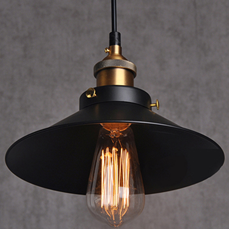 Painted iron pendant lighting vintage lamp holder for Industrial design lighting fixtures