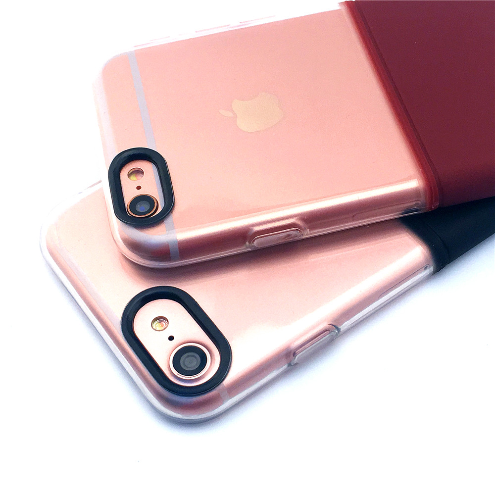 special design phone cases for iphone 7 case iphone 6s coque transparent TPU up PC down fashion protective mobile phone bag capa(China (Mainland))
