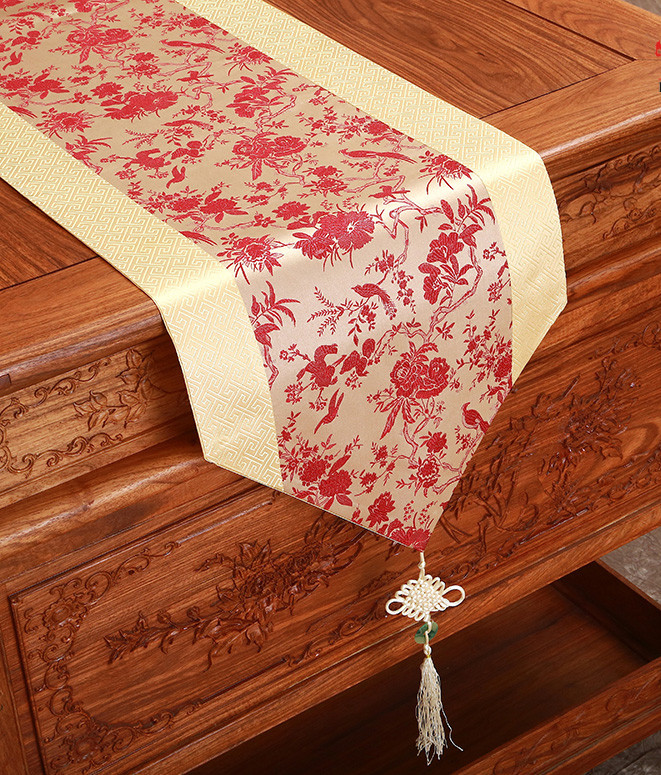 Length Flower Jacquard Table Runner Chinese Knot Dining  : Length Flower Jacquard Table Runner Chinese Knot Dining Table Protective Mats Tapestry Satin Patchwork Coffee Table from www.aliexpress.com size 661 x 775 jpeg 318kB