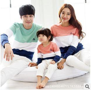 Новый 2015 семья соответствующие наряды мать и дочь одежда детская с длинным рукавом ...
