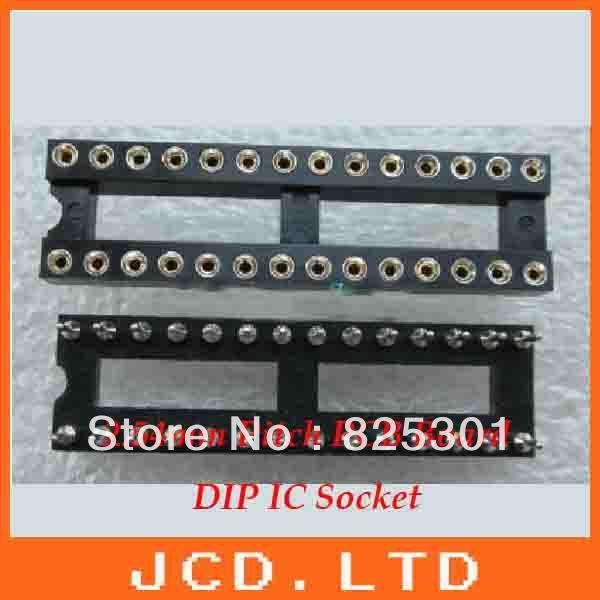 28 Pin Round DIP IC Sockets narrow  /Round pin IC Socket  connector base adaptor