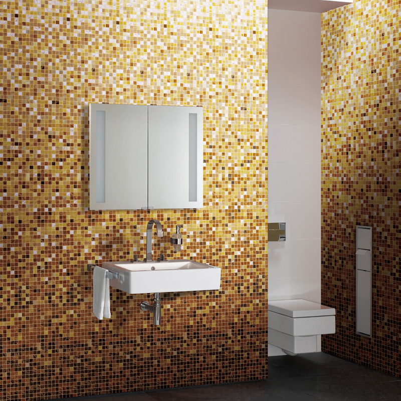 Gradual changing white yellow mosaic tile md 2045 swimming for Yellow mosaic bathroom tiles