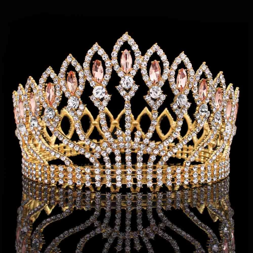 Wedding Bridal Crystal Tiara Crowns Princess Queen Pageant Prom Rhinestone Tiara Headband Wedding Hair Accessories(China (Mainland))
