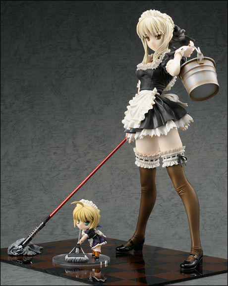 Free shipping Anime Figure toy  Fate Saber and maid 1/6 scale ver anime pvc 26cm height sexy girls anime<br><br>Aliexpress