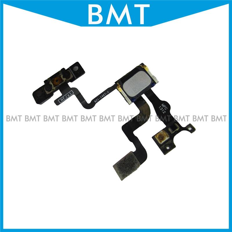 10pcs/lot Power On OFF Light Proximity Sensor Flex Cable + Earpiece Speaker For iPhone 4S