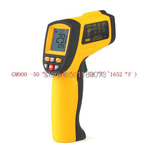 NEW GM900 Non-Contact Precise Digital IR Laser Infrared Pointer Thermometer -50degree to 900 Degree Gun Free Shipping(China (Mainland))