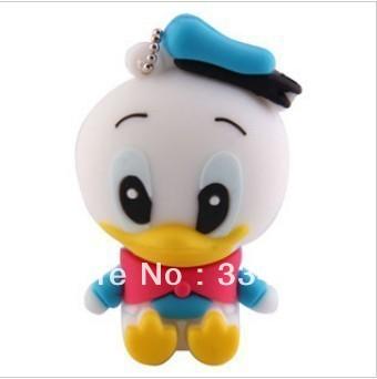 U Disk Free shipping U Disk Gift Cartoone duck pen drive 4GB/8GB/16GB usb Enough Flash Memory Stick Pen Drive 80()