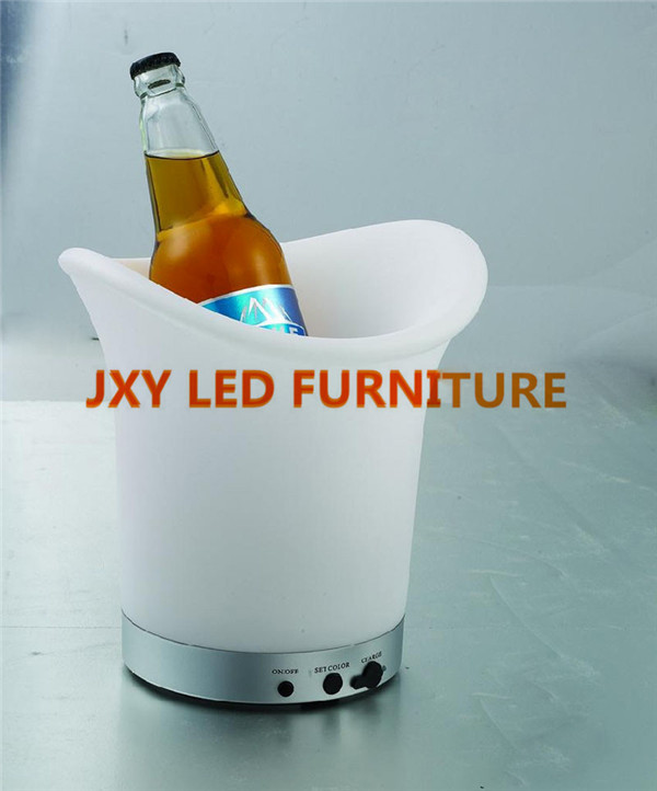 L23.8cm*W21.1cm*H28.8cm/led ice bucket, wine glass hanger/ wine and beer coolers(China (Mainland))