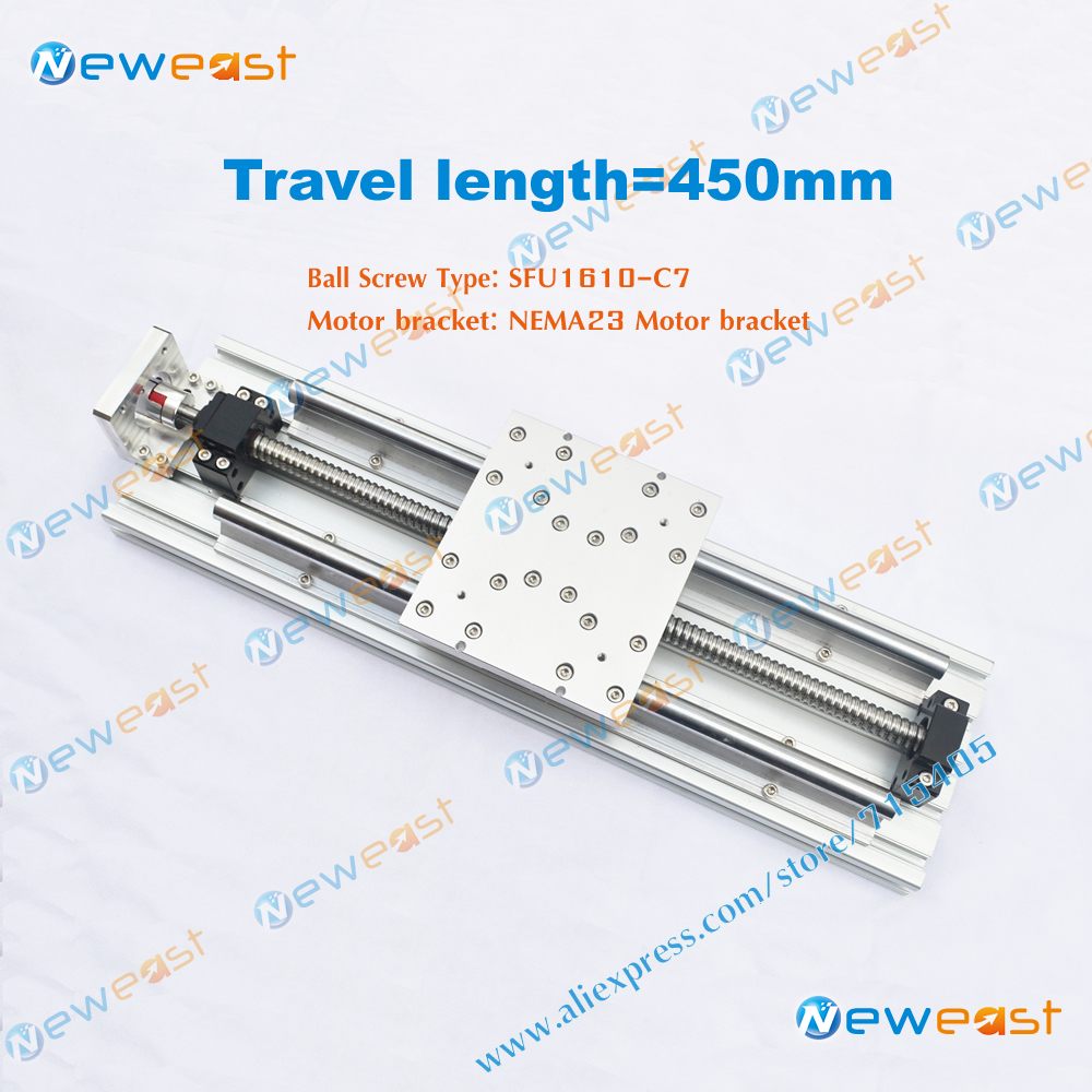 DIY CNC X Y Z aixs 450mm Travel Length linear Module Actuator System SFU1610 linear Stage Slide Module for CNC part(China (Mainland))