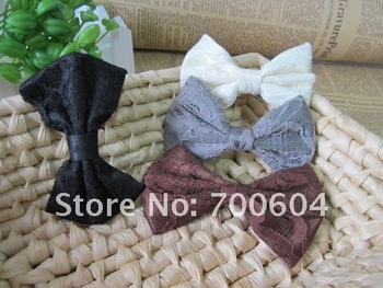 Wholesale 10pcs/lot Fashion  Hair accessories Women Pretty Ribbon Bow Hair Tie Rope Hair Band Free shipping Scrunchie Ponytail