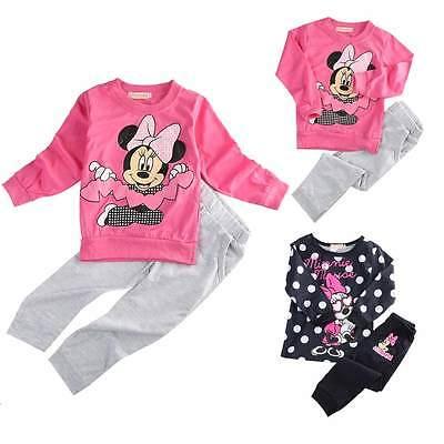 2015 Spring Autumn baby girls Sport clothing set 2pcs suit t shirt pants kids minnie mouse clothes sets(China (Mainland))
