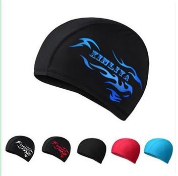 Swim caps waterproof wear hat women men protect hair ear ...