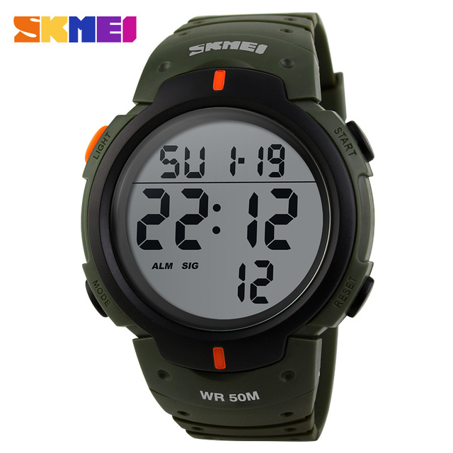 New 2016 Men Sports Watches 50M Waterproof Fashion Casual Digital LED Military Multi-Function Wristwatches