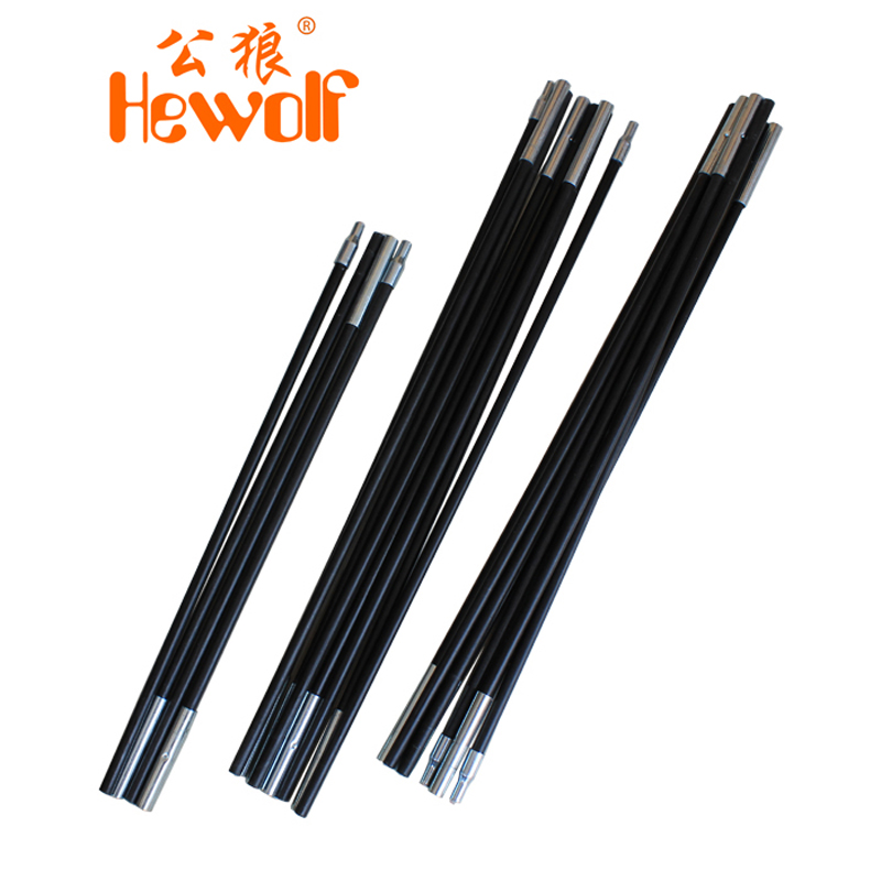 Hewolf / male wolf rainproof camping Tents poles supporting the tent pole fiberglass pole accessories tent(China (Mainland))