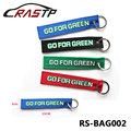 Racing Souvenir Keychain with Stainless Steel Ring Go for Green Creative Car Tuning RS BAG002