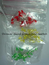 5type*20pcs=100pcs 5MM LED Red white green blue yellow LED Package,light emitting diode package(China (Mainland))