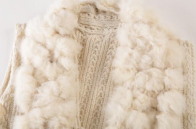кролика 100% мех жилет higth качества дамы подлинные трикотажные енота меховой отделкой кистями меха естественных жилет жиле colete Пеле