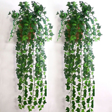 2015 New Arrival 2.5M 1pc Home Decor Fashion Decorative Flowers Artificial Ivy Leaf Garland Plants Vine Fake Foliage Flowers (China (Mainland))