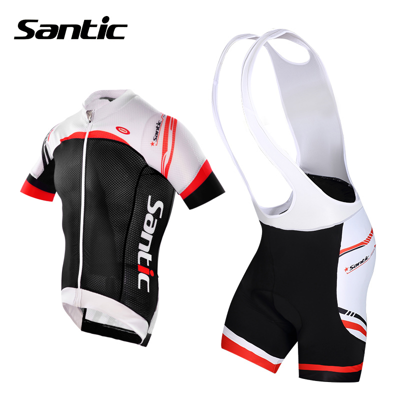 Santic Brand Cycling Jersey Ciclismo Short Sleeve Mountain Road Bike Clothes Bicycle Jerseys Men's MTB Jersey Comfort Close-Fit