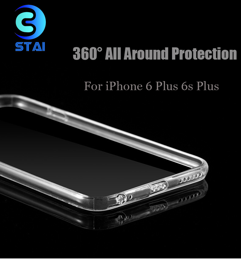 """SA31 Ultra Thin Flexible TPU Cell Phone Cases Back Cover With Dust Plug Clear For iPhone 6 6S Plus 5.5"""" Shockproof Protect(China (Mainland))"""