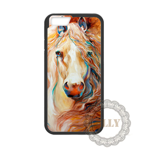 Expensive Horse Painting fashion mobile phone case cover for iphone 4 4s 5 5s 5c 6 6 plus H6397(China (Mainland))
