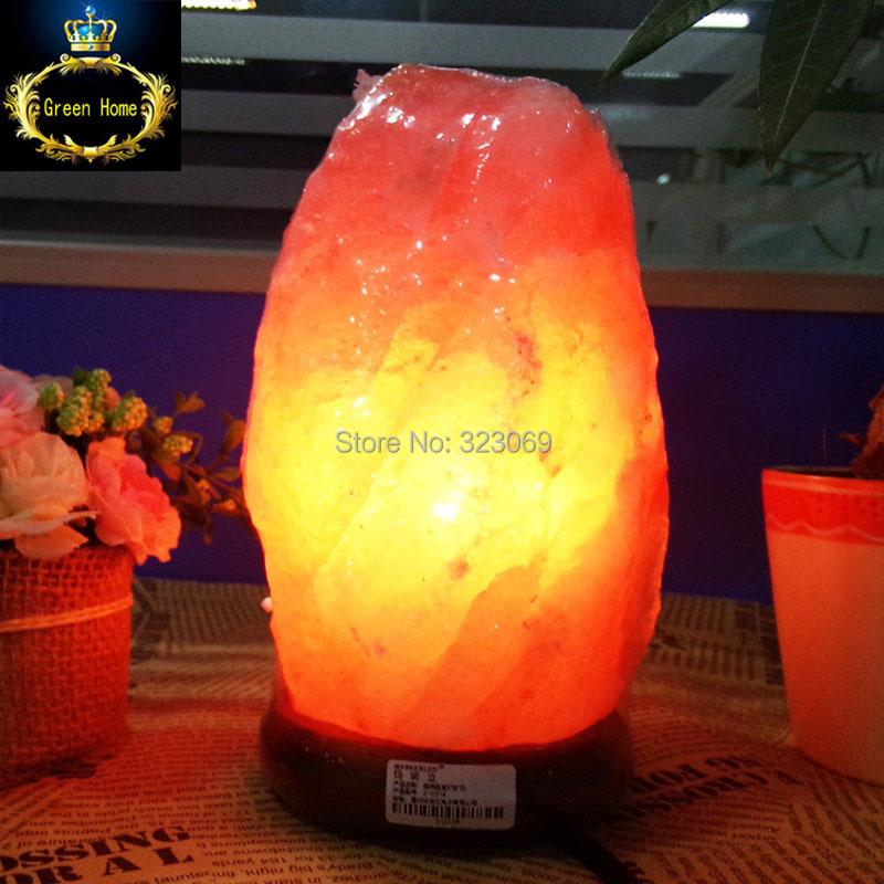Купить Гималайский соль лампы природные минеральное с ним деревянное основание + вилка + + 3 Вт из светодиодов лампы для очистки воздуха терапия