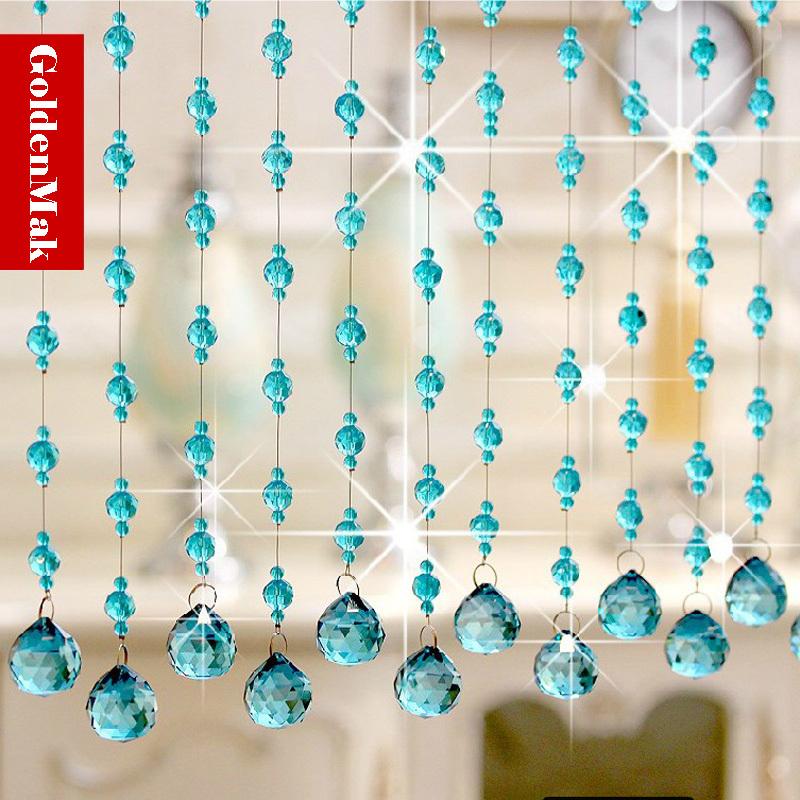 Buy crystal glass luxury beaded string - Crystal door curtain beads ...