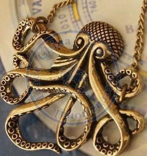 necklaces pendant Fashion jewelry popular for women six legs swimming sea animal vintage design Wholesale(China (Mainland))