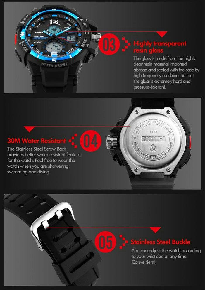 Relojes де marca водонепроницаемый холодный свет спортивные часы