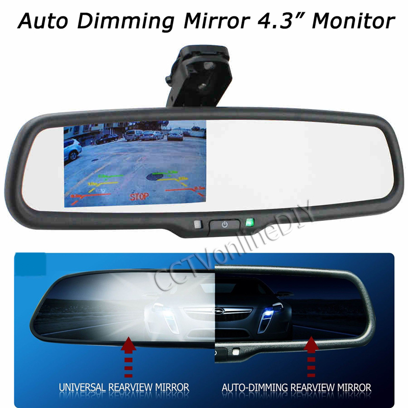 oem auto dimming rear view mirror with 4 3 inch 800 480. Black Bedroom Furniture Sets. Home Design Ideas
