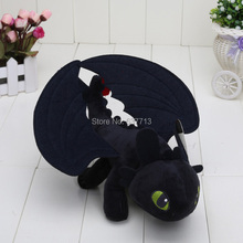 "9"" HOW TO TRAIN YOUR DRAGON MINI PLUSH Toothless Night Fury Toy(China (Mainland))"