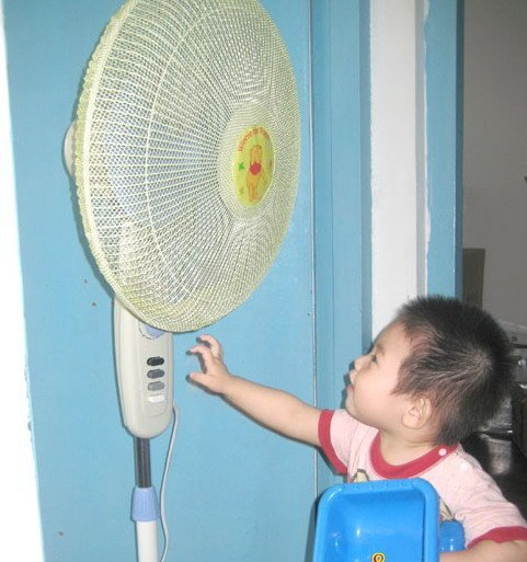Free Shipping 10pc/lot  nylon mesh avoid hurt babys fingers electric fan protective cover