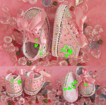 free shipping rhinestone Crystal Baby Girl DIY Child shoes pacifier handmade Bling diamond First Walkers bead soft Sports shoes(China (Mainland))