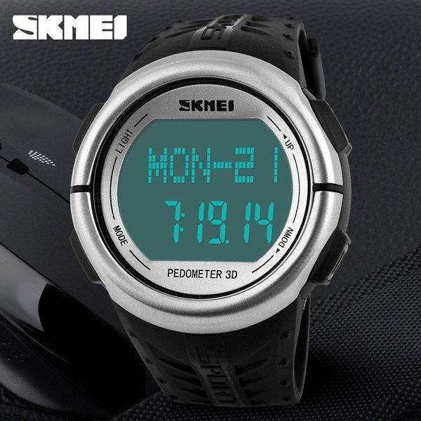 SKMEI 1058 Heart Rate Monitor Pedometer Sport Watches 50M Waterproof Digital Watch Men Women Calorie Counter