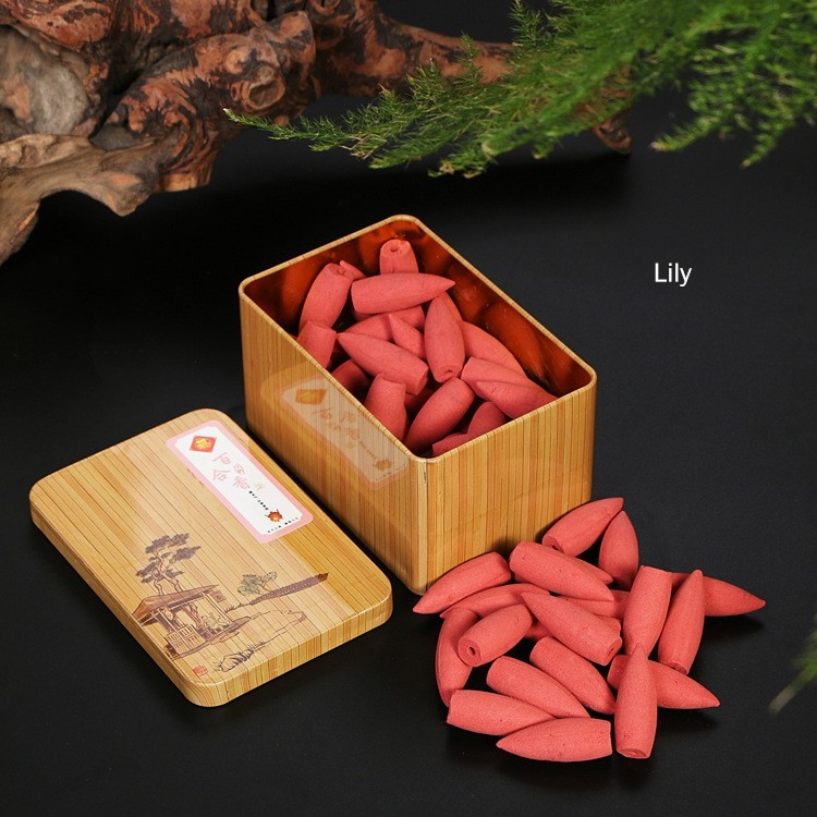 Natural More Flavor Backflow Incense Flower & Bud Cones Incense Room Fragrance Aromatherapy Air Fresh Meditation Colored Smoke