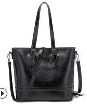Hakiki deri çanta kahverengi Vintage çanta kadın deri omuzdan askili çanta bayanlar Retro Tote büyük çanta bolso moda büyük yeni C829(China)