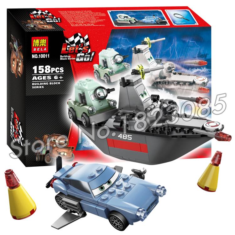 158pcs Bela new 10011 Pixar cars 2 Escape At Sea Building Bricks Model Toys Sets Kids toys Action Figure Compatible With Lego(China (Mainland))