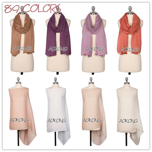 2015 new plain hijabs scarf fashion basic summer foulard cotton viscose maxi shawls wraps soft long beach women scarves bandana(China (Mainland))