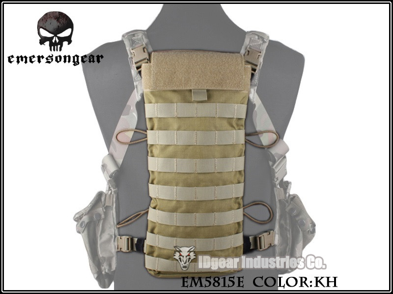 EMERSON LBT2649E Style 2.5L Hydration Backpanel MOLLE Pouch Camping Water Bag EM5815E Khaki(China (Mainland))