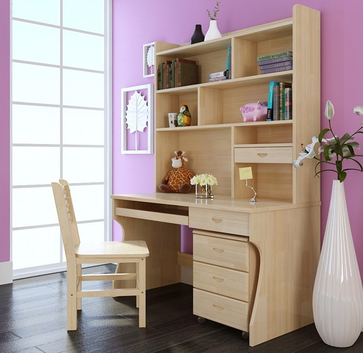 bookcases desk combination minimalist