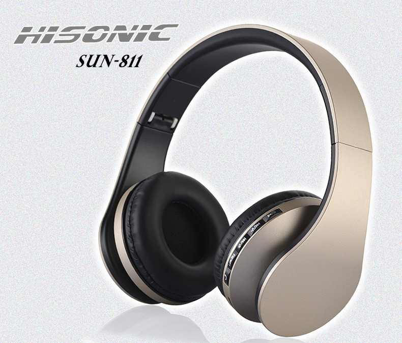 Hisonic bluetooth earphone Wireless Stereo Foldable Earbuds Microphone casque audio auriculares Headset Headphone Earphone 811