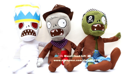 Free Shipping for one piece zombie, 30~35cm, Zombies Plush Toys, baby toy, minis doll, toys for children, for boys girls kids(China (Mainland))